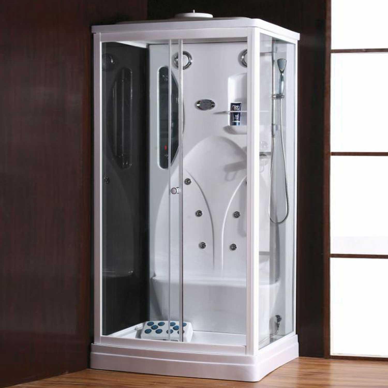 Cabina 110x90 box doccia idromassaggio vetro multifunzione - Doccione per doccia ...