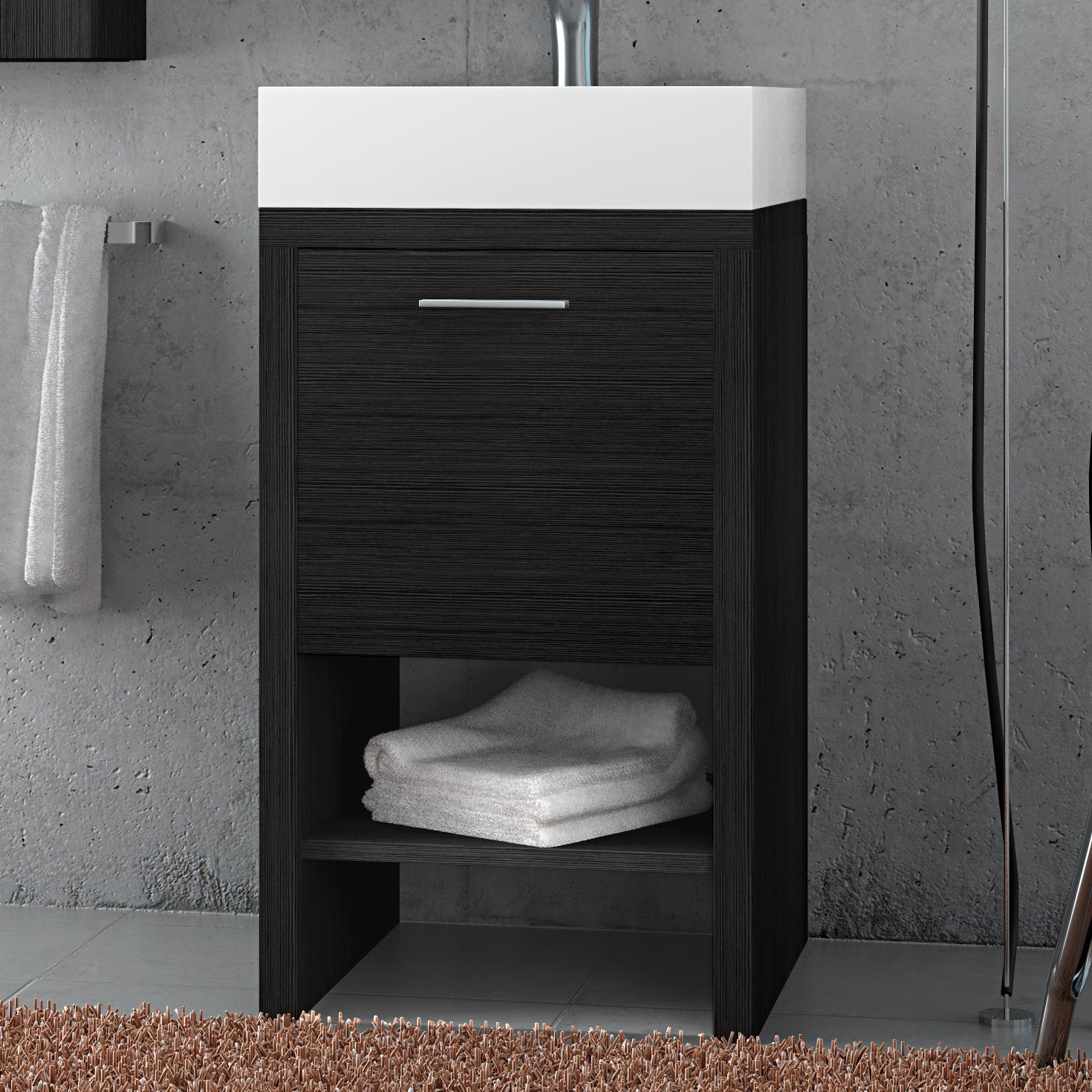 Base mobile 45 cm da bagno sospeso arredo moderno design - Colori bagno moderno ...