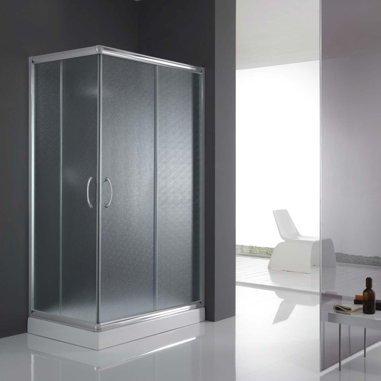 Box cabina doccia bagno 70x100 rettangolare vetro angolare for Finestra 70x100