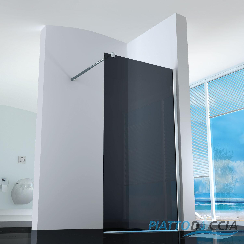 Box cabina doccia parete fissa 8 10mm vetro temprato for Parete vasca bricoman