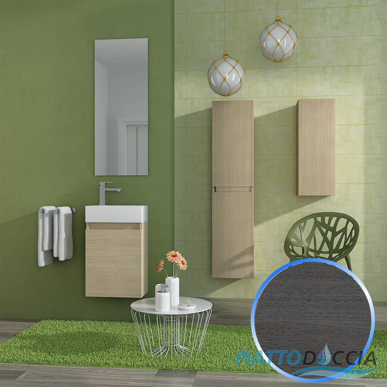 Mobile Da Bagno Sospeso Moderno Design Lavabo Specchio 40