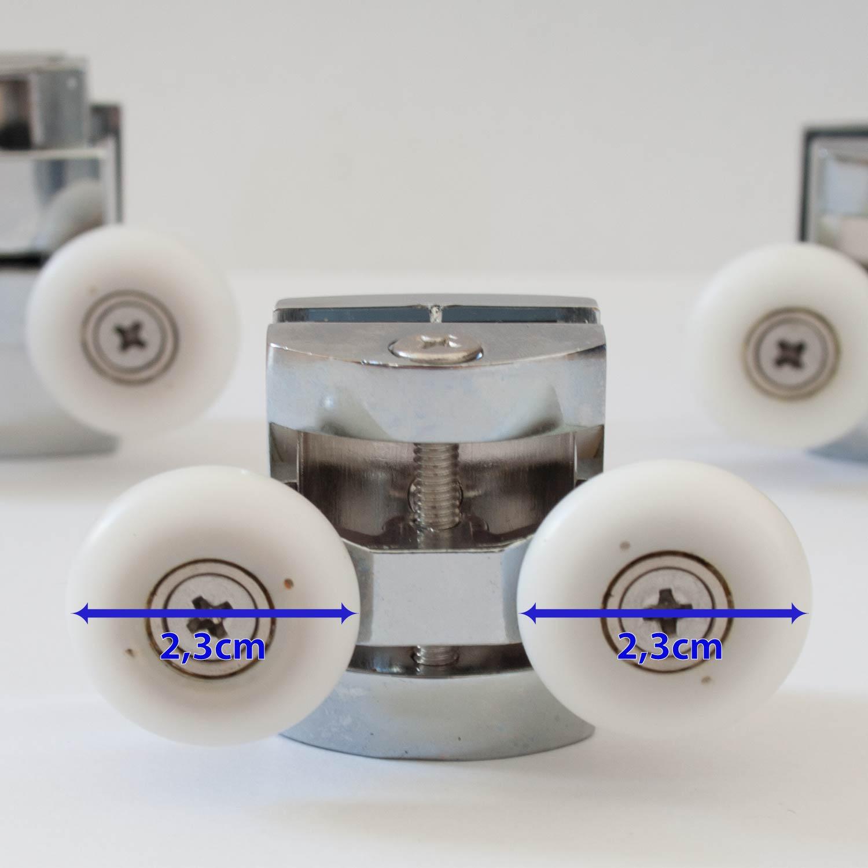 Kit8 cuscinetti ricambio rotelline box doccia cabina porta - Box doccia bricoman ...