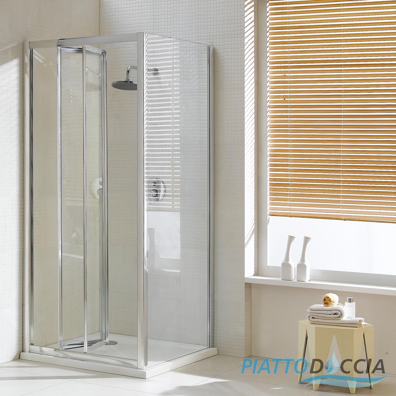 Box cabina doccia 90x90 cm angolare vetro cristallo porta - Porta cabina doccia ...