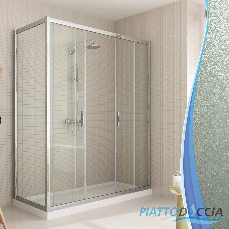 Box cabina angolare doccia 2 ante scorrevole vetro for Bagno y compania