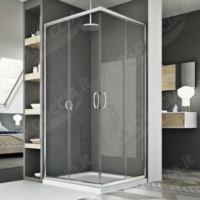 Box doccia 100x100CM H185 trasparente mod. Junior